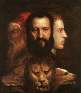 Tiziano Vecellio (Titian) - Allegory of time governed by prudence, ng l