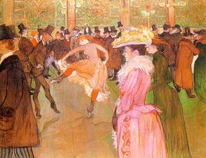 Henri De Toulouse Lautrec - Training of the New Girls by Valentin at the Moulin Rouge