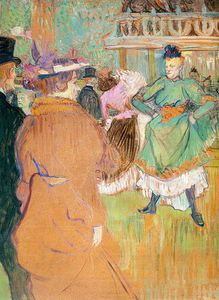 Henri De Toulouse Lautrec - The Beginning of the Quadrille at the Mouli