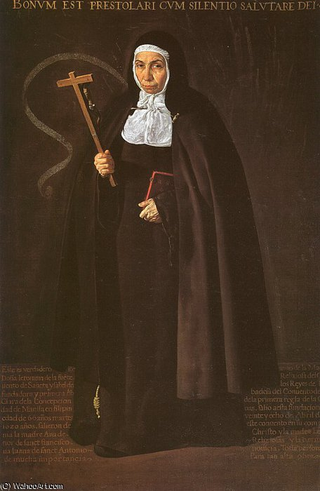 Mother Jerónima de la Fuente, oil on canvas,, 1620 by Diego Velazquez (1599-1660, Spain)
