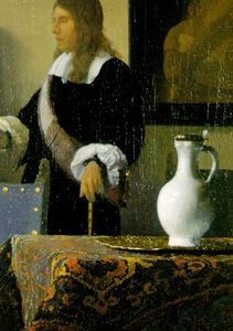 Jan Vermeer - Music lesson detail