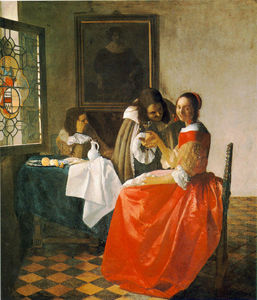 Jan Vermeer - The girl with wineglass, Herzog A