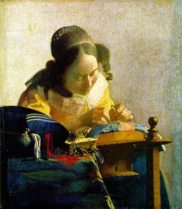 Jan Vermeer - The lacemaker, Louvre