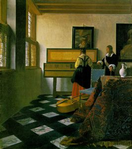 Jan Vermeer - The music lesson, ca Royal