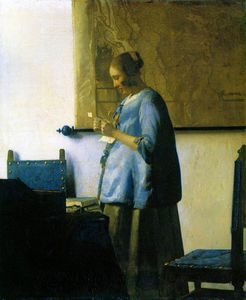 Jan Vermeer - Woman in blue reading a letter, , Rij