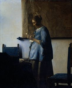 Jan Vermeer - Woman blue