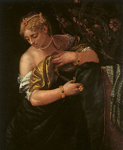Paolo Veronese - Lucretia stabbing herself, art history mus