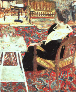 Jean Edouard Vuillard - Madame Arthur Fontaine, gouache and oil on