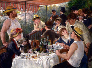 Pierre-Auguste Renoir - Luncheon of the Boating Party - (Famous paintings reproduction)