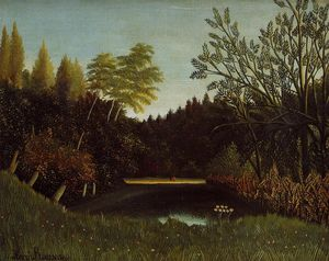 Henri Julien Félix Rousseau (Le Douanier) - View of the Bois de Boulogne