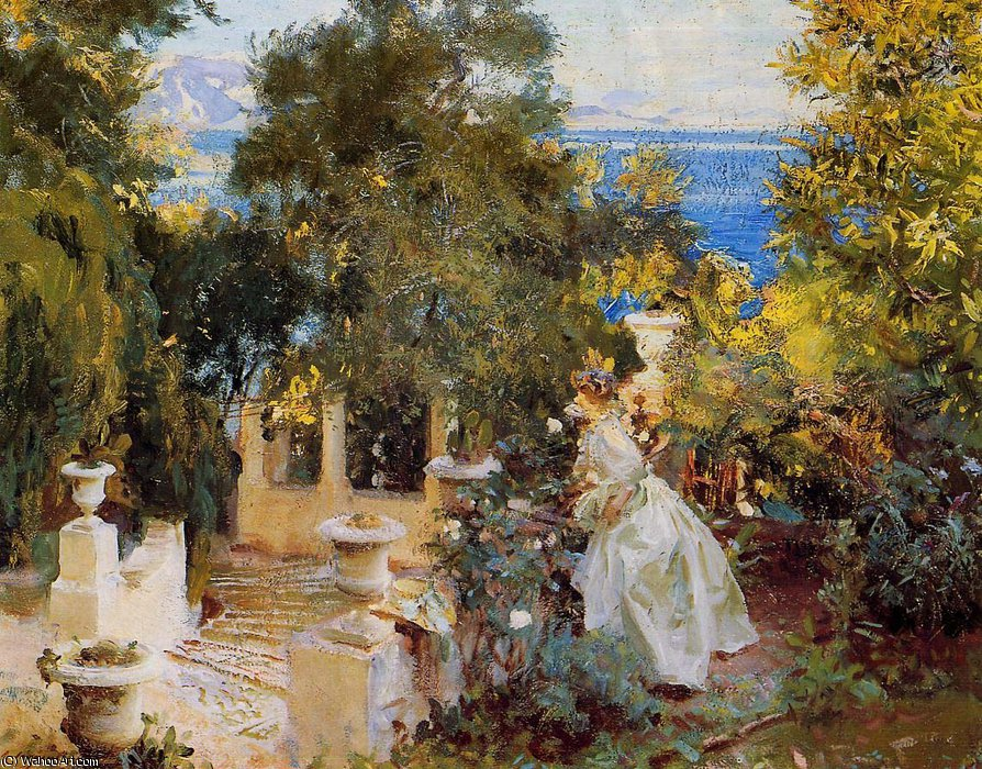 Garden in Corfu by John Singer Sargent (1856-1925, Italy)