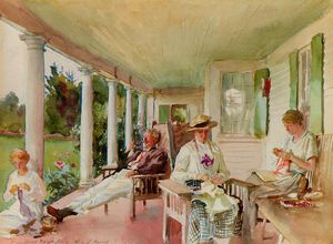 John Singer Sargent - On the Veranda (Ironbound Island, Maine)