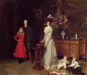 John Singer Sargent - Sir George Sitwell, Lady Sitwell and Family
