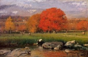 George Innes - Morning, catskill valley