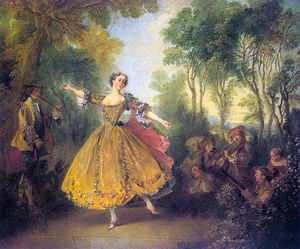 Nicolas Lancret - The dancer camargo