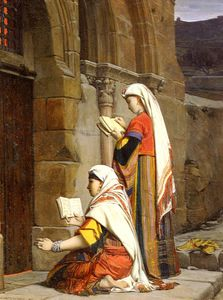 Jean Jules Antoine Lecomte Du Nouy - Christian Women at the Tomb of the Virgin, Jerusalem
