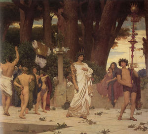 Lord Frederic Leighton - The Daphnephoria (Detail Right)