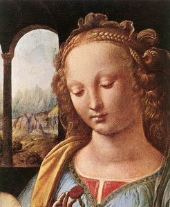 Leonardo Da Vinci - Madonna of the Carnation (detail)
