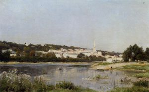 Stanislas Lepine - The Banks of the Saine at St. Cloud