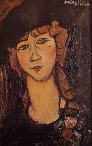 Amedeo Modigliani - Head of a Woman in a Hat (Lolotte)