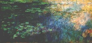 Claude Monet - Reflections of Clouds on the Water-Lily Pond (Left Panel)