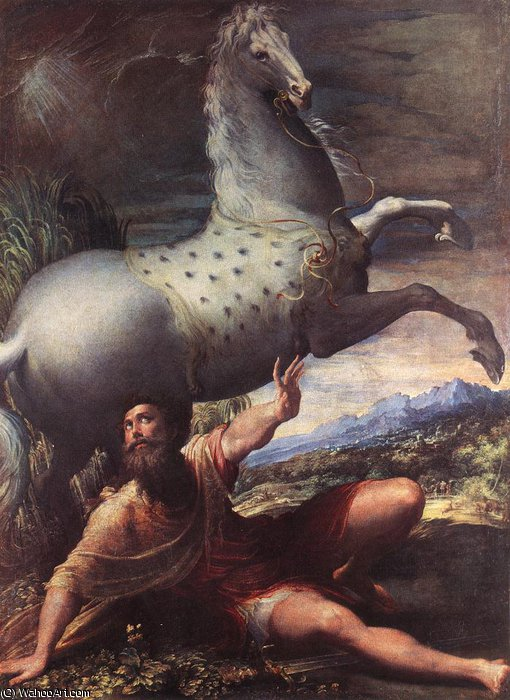 The Conversion of St Paul by Niccolò Dell' Abbate (1512-1571, Italy)