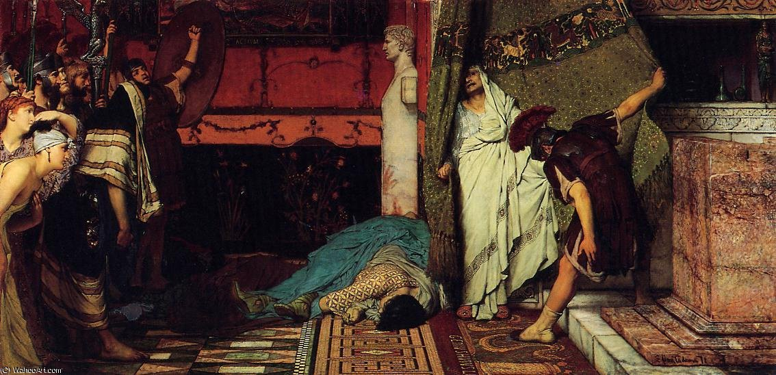 Order Oil Painting : A roman emperor - claudius by Lawrence Alma-Tadema (1836-1912, Netherlands) | WahooArt.com