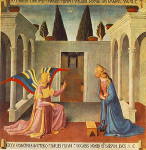 Fra Angelico - Annunciation (from the paintings for the Armadio degli Argen