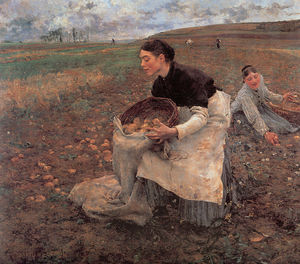 Jules Bastien Lepage - October - gathering potatoes