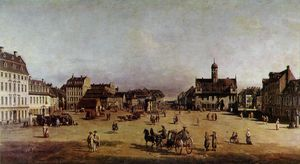 Bernardo Bellotto - The Neustadter Market in Dresden