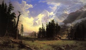 Albert Bierstadt - The Morteratsch Glacier, Upper Engadine Valley, Pontresina