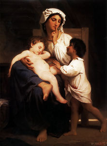 William Adolphe Bouguereau - Asleep at last