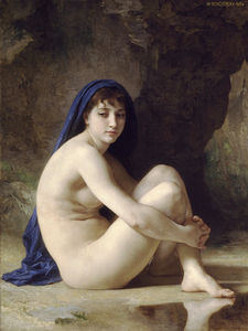 William Adolphe Bouguereau - Baigneuse accroupie