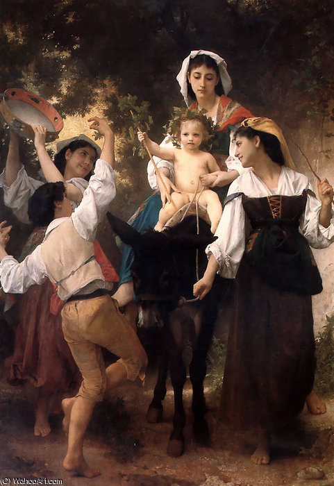 Donkey ride by William Adolphe Bouguereau (1825-1905, France) | Museum Quality Reproductions | WahooArt.com