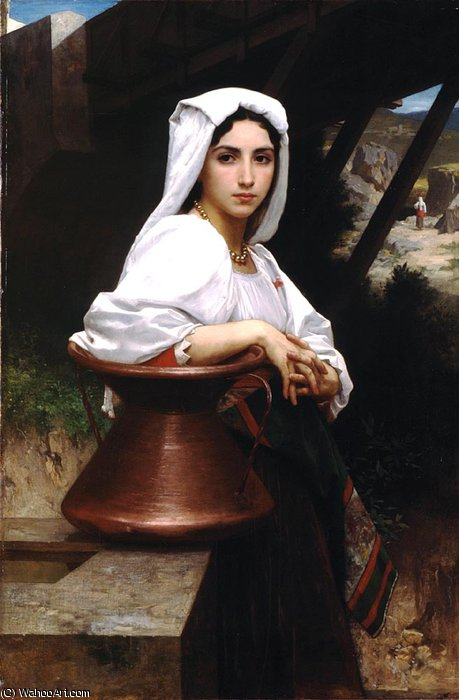 Italian girl drawing water by William Adolphe Bouguereau (1825-1905, France) | WahooArt.com