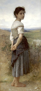Jeune bergere by William Adolphe Bouguereau  (order Fine Art fine art print William Adolphe Bouguereau)