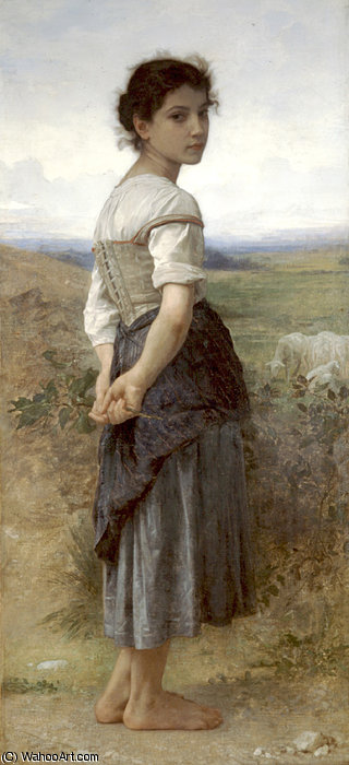 Order Oil Painting : Jeune bergere by William Adolphe Bouguereau (1825-1905, France) | WahooArt.com