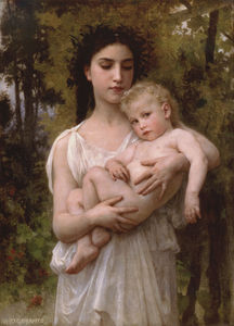 William Adolphe Bouguereau - Little brother
