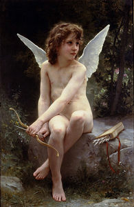 William Adolphe Bouguereau - Love on the Look Out