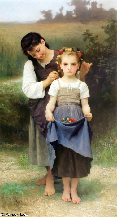 Parure des Champs by William Adolphe Bouguereau (1825-1905, France)