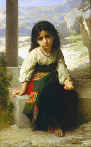 William Adolphe Bouguereau - Petite mendiante