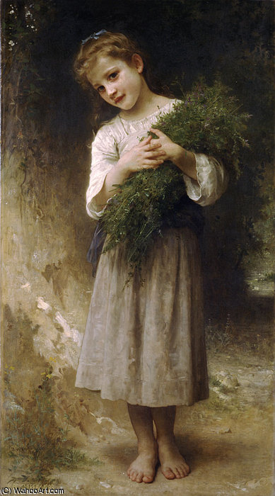 Returned from the fields by William Adolphe Bouguereau (1825-1905, France)