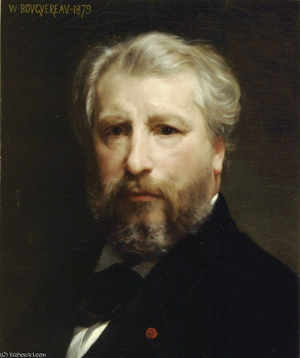 Self portrait by William Adolphe Bouguereau (1825-1905, France)