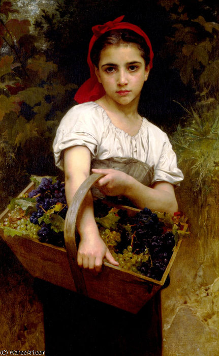 The grape picker by William Adolphe Bouguereau (1825-1905, France)