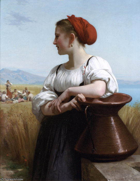 The harvester by William Adolphe Bouguereau (1825-1905, France)
