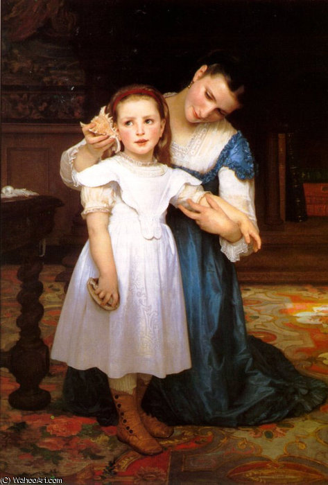 The seashell by William Adolphe Bouguereau (1825-1905, France)