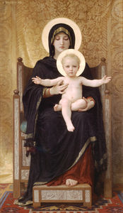William Adolphe Bouguereau - The seated madonna
