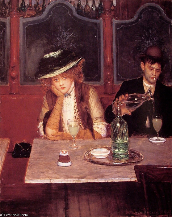 The drinkers by Jean Georges Béraud (1849-1936, France) | Reproductions Jean Georges Béraud | WahooArt.com