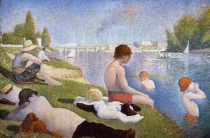 Georges Pierre Seurat - Bathing at Asnieres