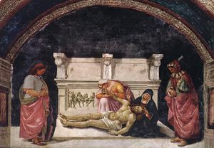 Luca Signorelli - Lamentation over the Dead Christ with Sts Parenzo and Fausti